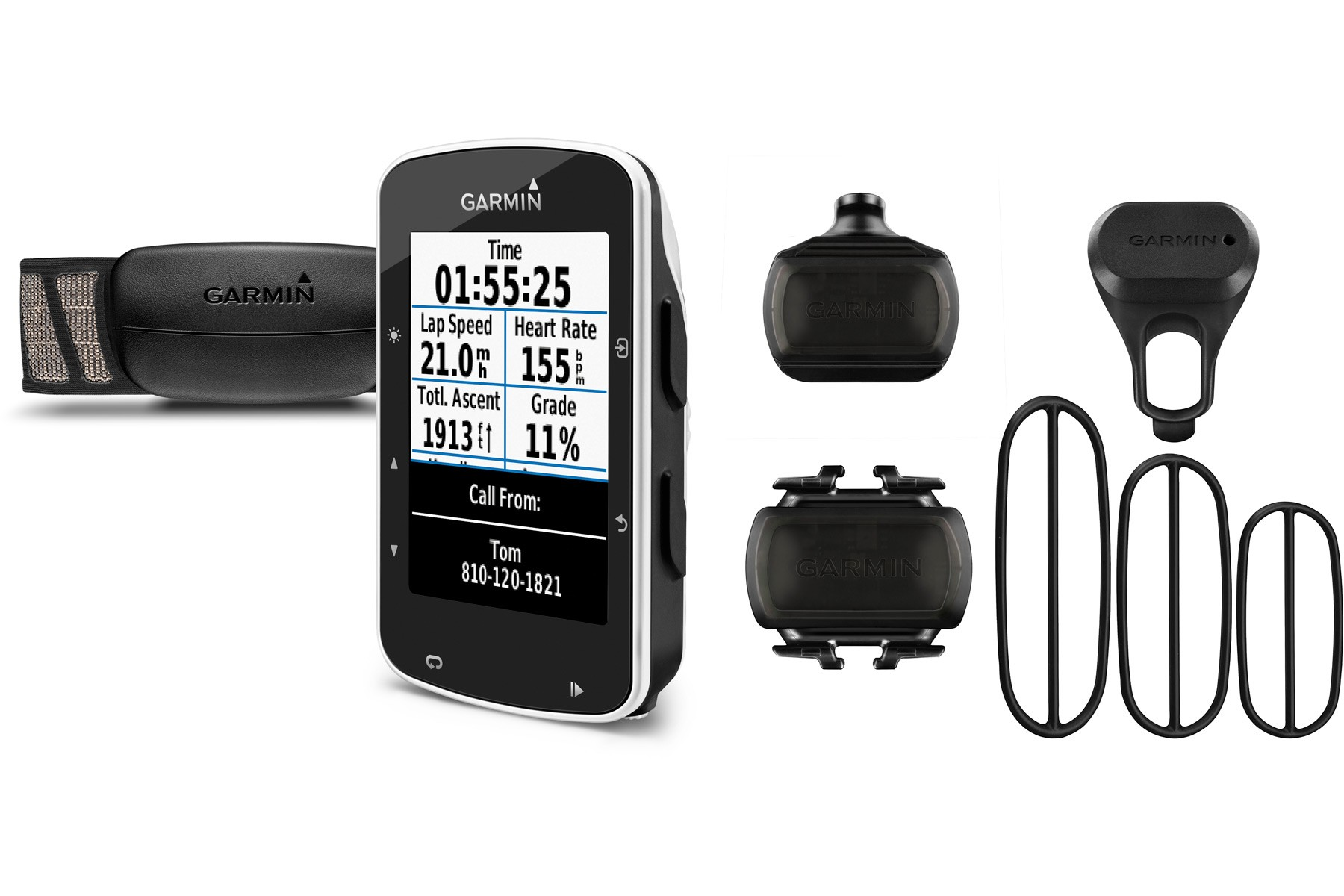 Garmin  Edge 520 GPS- enabled cycle computer with speed and cadence sensor & HRM - black