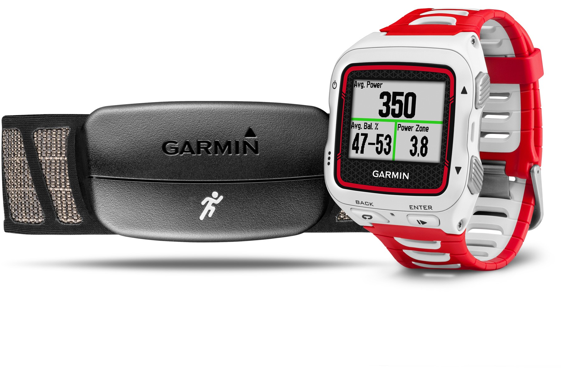 Garmin Forerunner 920XT multisport GPS watch - white and red bundle
