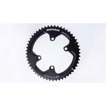 Rotor Chainrings NoQ Round Rotor 4 Bolt 110BCD Outer Black